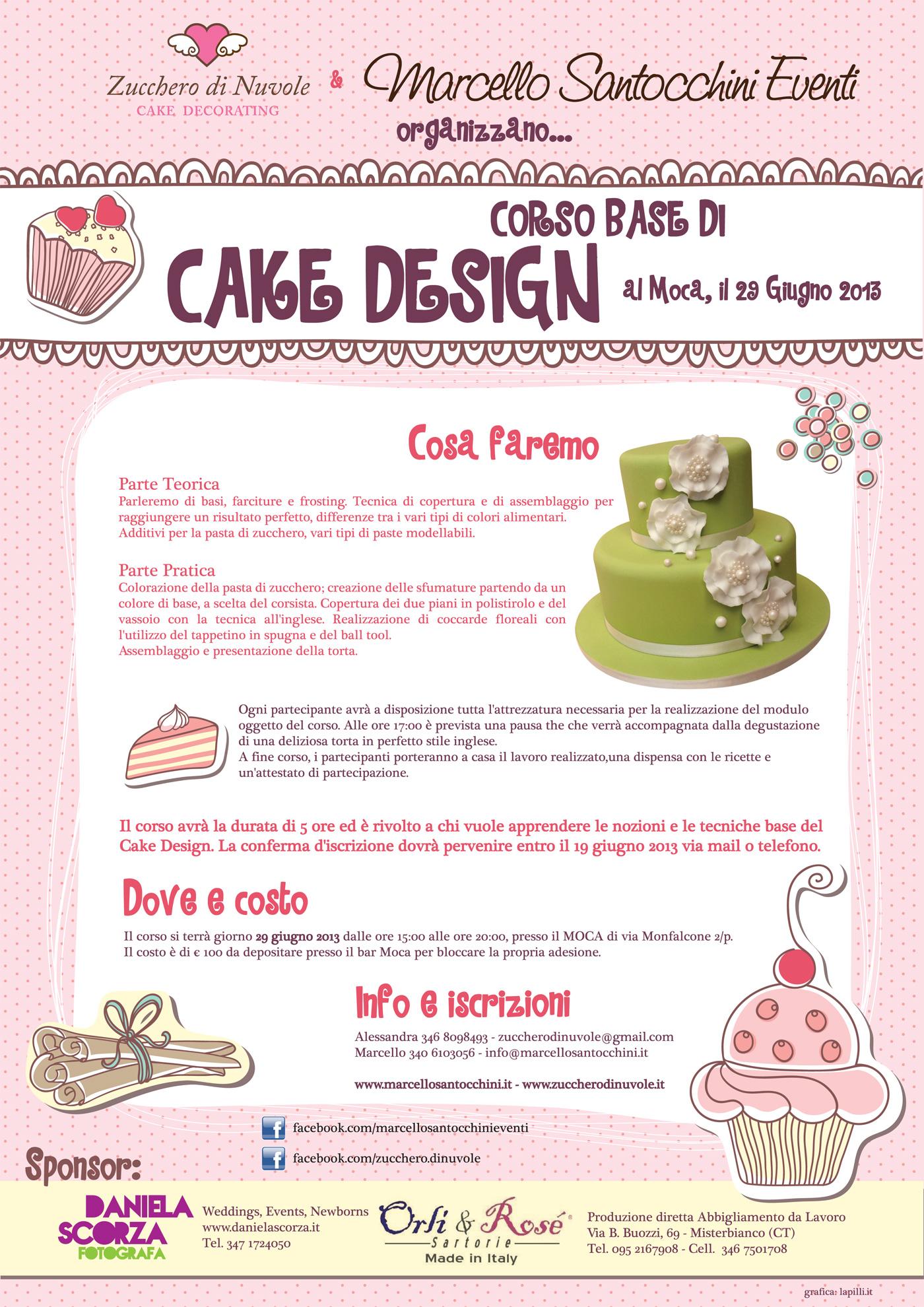 Corso base di Cake Design al Moca - Marcello Santocchini ...